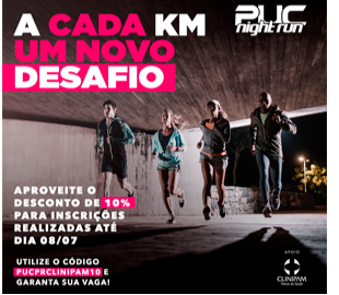 Clinipam apoia a corrida Puc Night Run